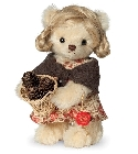 peluche Ours en peluche de collection Liesl 17 cm