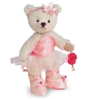 peluche Ours de collection ballerine rose 13 cm