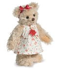 peluche Ours teddy de collection Emma 17 cm