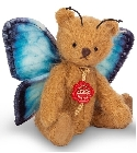peluche Ours en peluche de collection papillon bleu