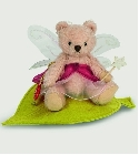 peluche Ours Teddy de collection Elfe rose 13 cm