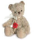 peluche Ours teddy de collection Beppi 15 cm