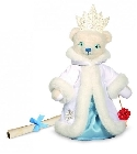 peluche Ours teddy de collection Reine des neiges