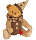 peluche Ours teddy de collection Arlequin 30 cm