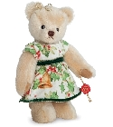 peluche Ours de collection de noël Hélène 22 cm