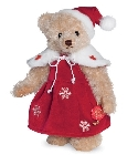 peluche Ours Teddy de collection Noël 27 cm