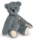 peluche Ours miniature à collectionner gris 5.5 cm