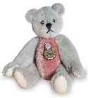 peluche Ours miniature à collectionner gris rose 5.5