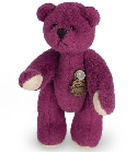peluche Ours mini teddy à collectionner prune 5.5 cm