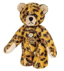 peluche Ours mini teddy à collectionner léopard 6 cm