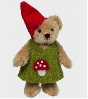peluche Ours Teddy de collection gnome fille 10 cm