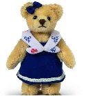 peluche Ours Teddy de collection marine 10 cm