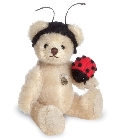 peluche Ours de collection coccinelle 10 cm
