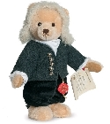 peluche Ours de collection Bach musical 30 cm