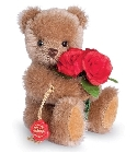 peluche Ours de collection avec roses 15 cm