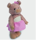 peluche Peluche de collection cochon rose 22 cm