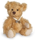peluche Ours de collection miniature doré 10 cm