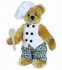 peluche Ours teddy de collection Chef 10 cm