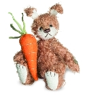 peluche Ours teddy de collection lapin Moppel 11 cm