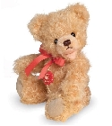 peluche Ours Teddy de collection doré 18 cm