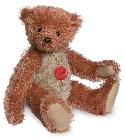 peluche Ours de collection rouge beige 30 cm