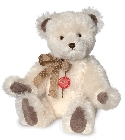 peluche Ours de collection nostalgie blanc 45 cm