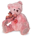peluche Ours de collection Nostalgie rose 27 cm