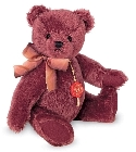 peluche Ours de collection bourgogne 27 cm