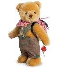 peluche Ours de collection costume traditionnel 22 cm