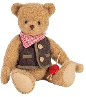 peluche Ours Teddy de collection Luiz 28 cm