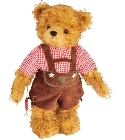peluche Ours Teddy de collection Salzburg 28 cm