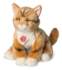 Peluche chat Hermann roux 30 cm