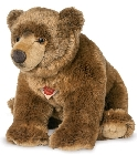 Peluche ours grizzli Hermann 50 cm