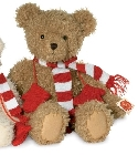 Ours teddy or avec �charpe de No�l