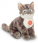 peluche Peluche chat assis gris Hermann 24 cm