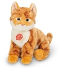 peluche Peluche chat roux assis Hermann 24 cm