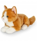 Peluche chat roux allongé Hermann 20 cm