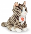 Peluche chat gris tigré assis Hermann 21 cm