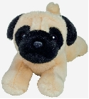 Peluche chien carlin Hermann 21 cm