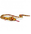 Peluche serpent orange 175 cm