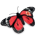 Peluche papillon rouge Hermann 30 cm