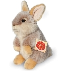 Peluche lapin assis marron Hermann 20 cm