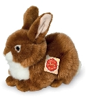 Peluche lapin marron allongé 25 cm