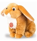 Peluche lapin or assis 21 cm