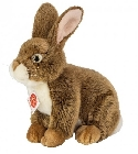 Peluche lapin marron assis Hermann 25 cm