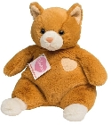 Doudou chat roux Hermann Teddy 24 cm