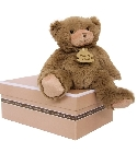 peluche Calin'ours marron 25 cm
