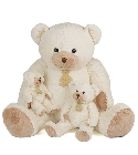 peluche Calin'ours g�ant ivoire 80 cm