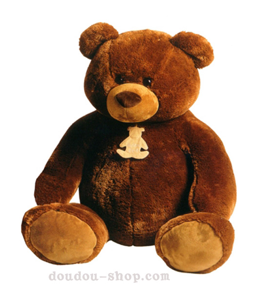 impression de l 39 article peluche gros ours marron 90cm. Black Bedroom Furniture Sets. Home Design Ideas