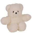 peluche Ours collection Prestige blanc 80 cm